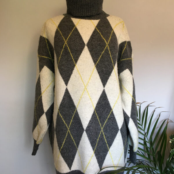 Pringle for H&M chequered jumper dress