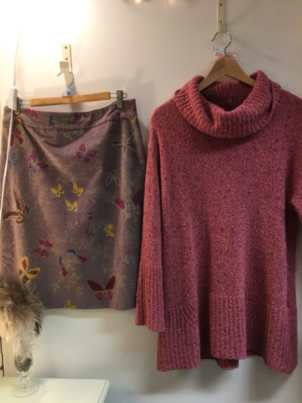 Sahara pink rollneck outfit