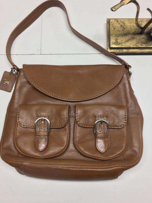 Tan Radley bag close up