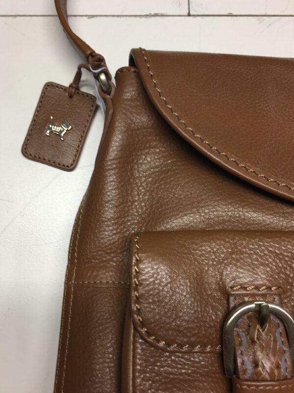 Radley tan shoulder bag close up
